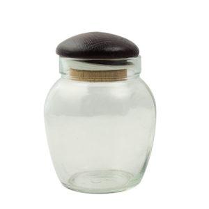 Βαζάκι γλυκού 370ml με ξύλινο καπάκι